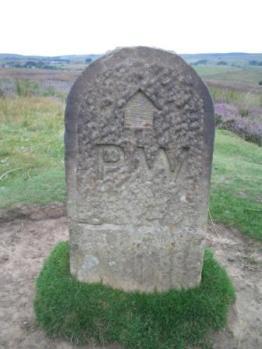 Stone way marker